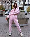 Спортивный костюм женский  розовый на флисе сезон зима Эми от бренда Тур, размеры: S,M, фото 2