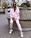 Спортивный костюм женский  розовый на флисе сезон зима Эми от бренда Тур, размеры: S,M, фото 3