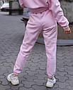 Спортивный костюм женский  розовый на флисе сезон зима Эми от бренда Тур, размеры: S,M, фото 6
