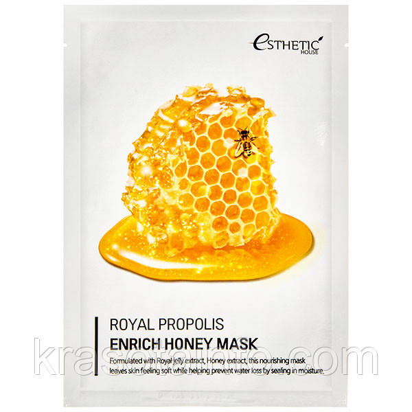 Тканевая маска питательная с маточным молочком, прополисом и медом Esthetic House Royal Propolis Enrich Honey