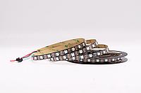 Светодиодная лента WS2812B, RGB, IP30, 60 Светодиодов/м, 5В, 1м, Черная подложка, фото 1