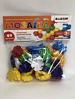 Детская игрушка Мозаика-пазл разноцветная для малышей (49 деталей)