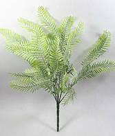 """Зеленый куст""""пальма дипсис"""" 36см с присыпкой,искусственный куст зелени, фото 1"""