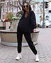 Худи женское черное Эми от бренда ТУР размер S,M, фото 2
