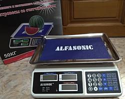 Торгові електронні ваги Alfasonic AS-A072 до 50 кг