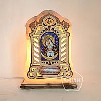 """Соляна лампа світильник велика Ікона """"Остробрамської"""""""