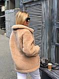 Шуба женская короткая из искусственного меха, фото 3
