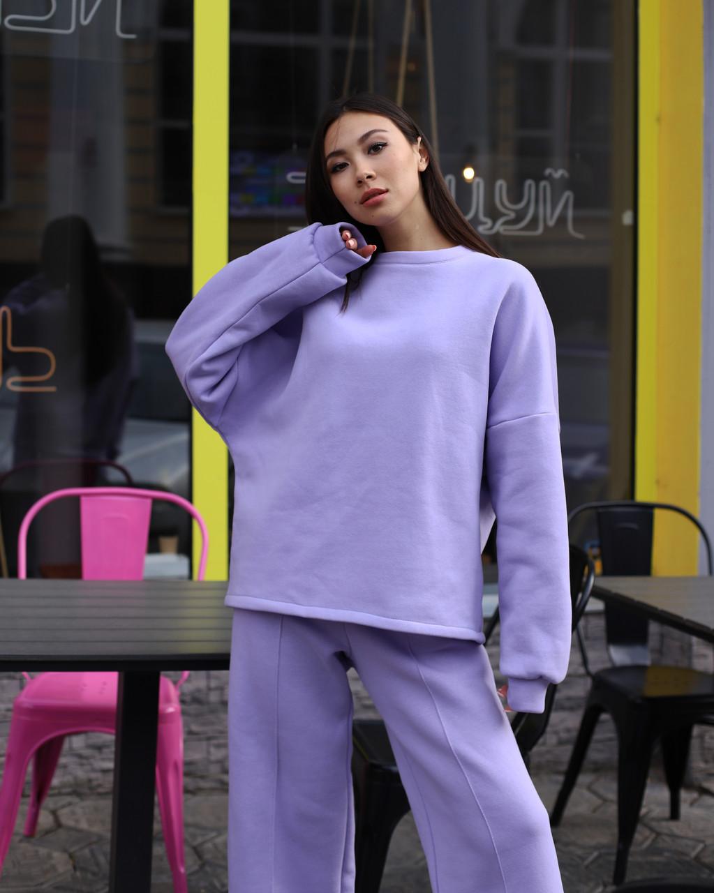Свитшот женский лиловый от бренда ТУР размер S-M