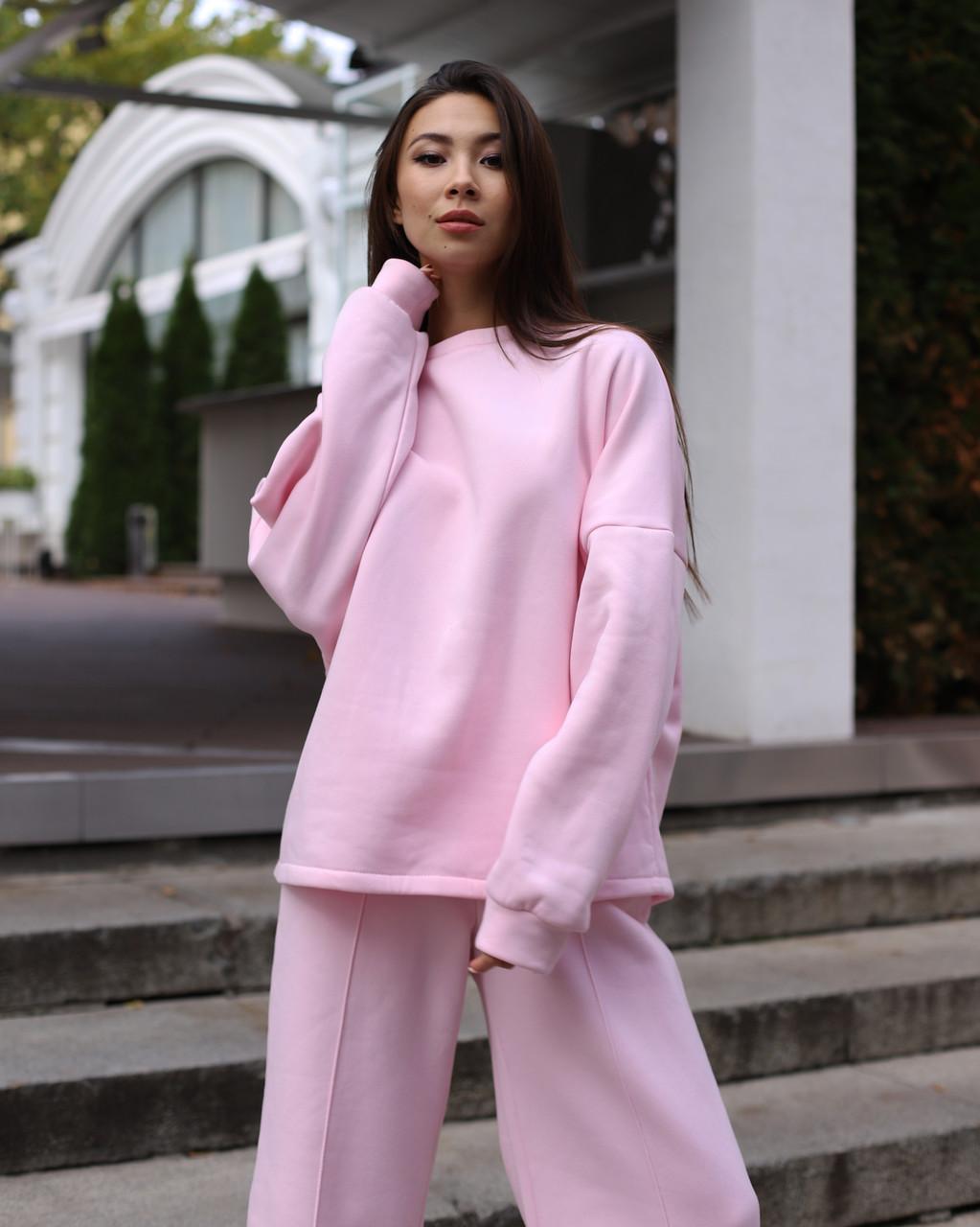 Свитош женский розовый Джин от бренда ТУР размер S-M