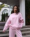 Свитош женский розовый Джин от бренда ТУР размер S-M, фото 3