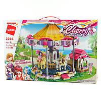 """Конструктор для девочек """"Фантастическая карусель"""", Розовая серия """"Cherry"""", в наборе фигурки, всего 646 деталей, фото 1"""