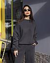 Свитшот женский в цвете графит Джин от бренда ТУР размер S-M, фото 3