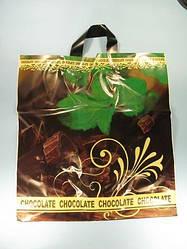 """Пакет з петлевий ручкою ср л """"Шоколад з м'ятою"""" (40х42)Леоні (50 шт)"""