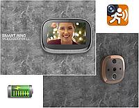 """""""S-02"""" ВидеоГлазок 4,3"""" (11cм) с Записью и Датчиком движения Видео Глазок Дверной На дверь"""