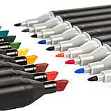 Набор 60 цветов, качественных двусторонних маркеров Touch для рисования и скетчинга на спиртовой основе, фото 2
