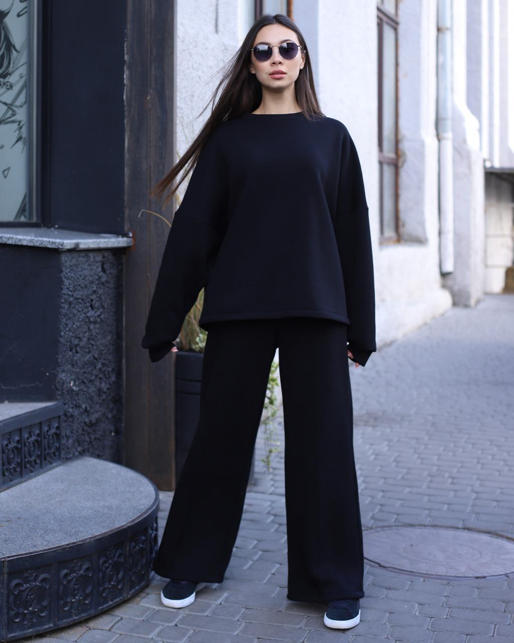 Свитшо женский чёрный Джин от бренда ТУР размер S-M