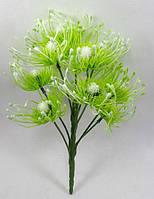 """Зеленый(посветлее)куст""""чертополох"""" 29см,искусственный куст зелени, фото 1"""