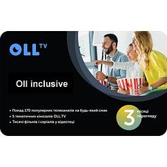 """Подписка на OLL TV пакет """"Oll inclusive """" на 3 месяца"""