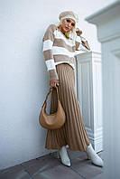 Комплект джемпер и юбка-плиссе