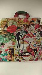 """Пакет з петлевий ручкою ср """"Нотатки про Парижі""""(37х41)Леоні (50 шт)"""