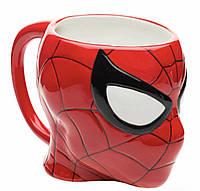 Чашка Человек Паук 350 мл Супергерои керамическая кружка 3D Спайдермен, фото 1