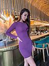 Платье базовое повседневное из трикотажа с люрексом облегающее длиной мини (р. 42-46) 9plt1980, фото 7