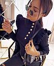 Кофта женская из трикотажа рубчик с воланами на плечах и пуговицами (р. 42-44) 48ddet1059, фото 5