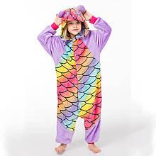 Пижама детская Kigurumba Панда Чешуя XL - рост 135 - 145 см Разноцветный K0W1-0101-XL, КОД: 1776064