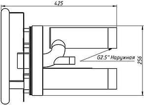 "AquaViva TWIN 2,5""/3"" AISI 304 передня частина і заставна до протитоку, фото 2"