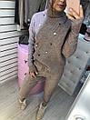 Костюм женский вязаный теплый с высоким воротником и манжетами (р. 42-46) 79kos1610kos, фото 4