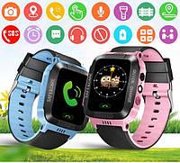 Детские смарт часы с GPS Smart baby Q528 голубые, смарт часы для ребенка, детские усные часы с GPS
