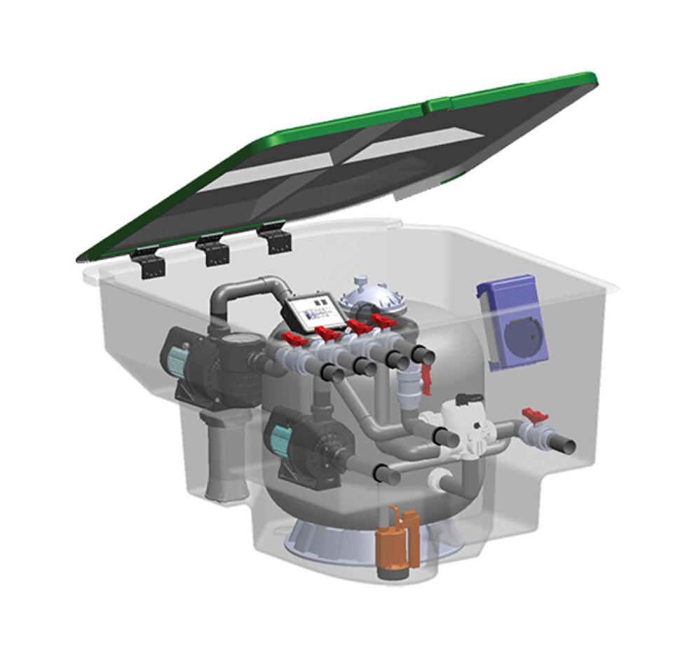 Комплексная фильтрационная установка Emaux EMD-22C (22м3/ч)