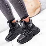 Ботинки женские Steve черные ЗИМА 2719, фото 3