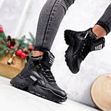 Ботинки женские Steve черные ЗИМА 2719, фото 7