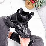 Ботинки женские Steve черные ЗИМА 2719, фото 9