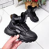 Ботинки женские Steve черные ЗИМА 2719, фото 10