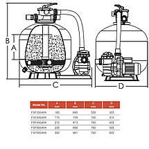 Фільтраційна установка Emaux FSF500 (11 м3/год, D535), фото 3