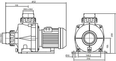 Kripsol KNG 100 - 15.9 м3/ч насос для бассейна - водопада - фонтана , фото 2