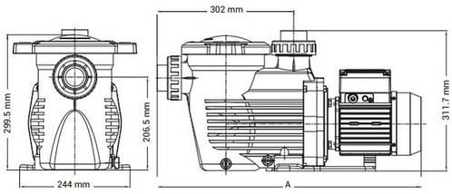 Hayward K-FLO SPK12603XY1 (220В, 0.33НР) 4,8 м3/ч насос для бассейна, фото 3