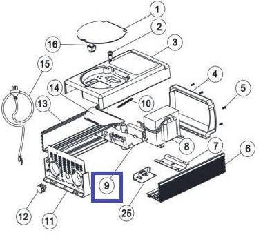 Плата контролю хлоратора Emaux SSC50 PCB 89380216, фото 2