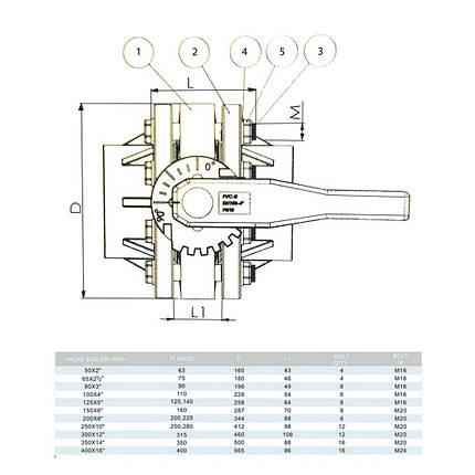Кран мотылек ERA диаметр 63 мм., фото 2