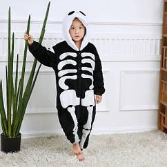 Піжама Кигуруми дитяча Kigurumba Скелет XS - зростання 95 - 105 см Чорний K0W1-0085-XS, КОД: 1821268