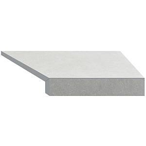 Кутовий елемент бортовий плитки Aquaviva Granito light gray, Г-подібний, 595x345x50(20) права/45°