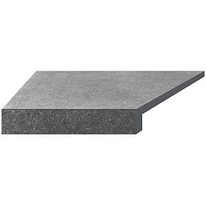 Кутовий елемент бортовий плитки Aquaviva Granito Gray, Г-подібний, 595x345x50(20) ліва/45°
