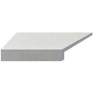 Кутовий елемент бортовий плитки Aquaviva Granito light gray, Г-подібний, 595x345x50(20) ліва/45°