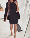 Платье женское  вечернее короткое цвет : персиковый , черный, фото 3