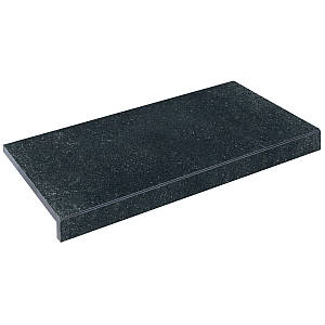 Бортова плитка Aquaviva Granito Black, Г-подібна, 595x345x50(20)