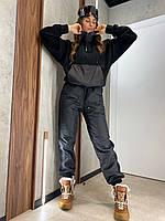 Брючный утепленный костюм двухцветный из плащевки и трехнитки (р. 42-44) 80101461, фото 1