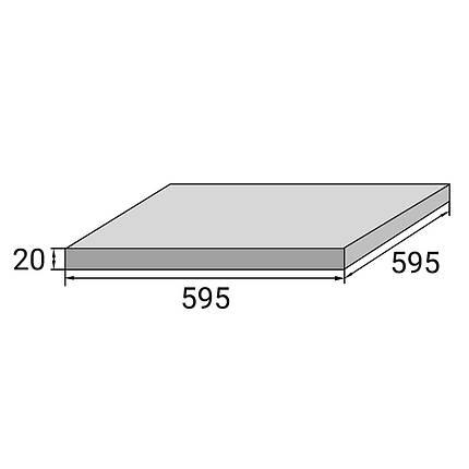 Плитка для террасы Aquaviva Ardesia Black 595x595x20 мм, фото 2