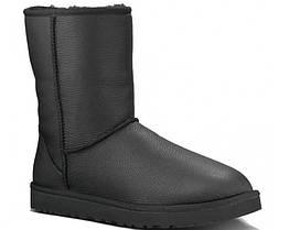 Мужские UGG CLASSIC SHORT LEATHER BOOT BLACK 42 Черный 3765 42, КОД: 2424055